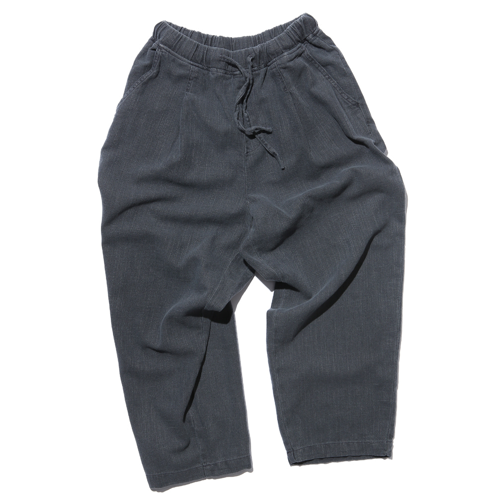 공백 Wide One Tuck Linen Like Pants(Garment Dyeing)_Charcoal Grey