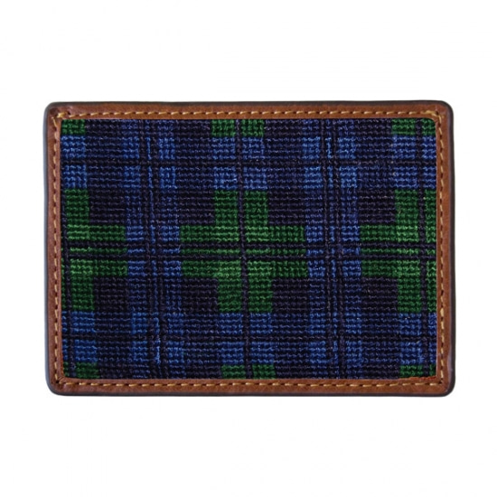 SMATHERS&BRANSON_Black Watch Needlepoint Card Wallet
