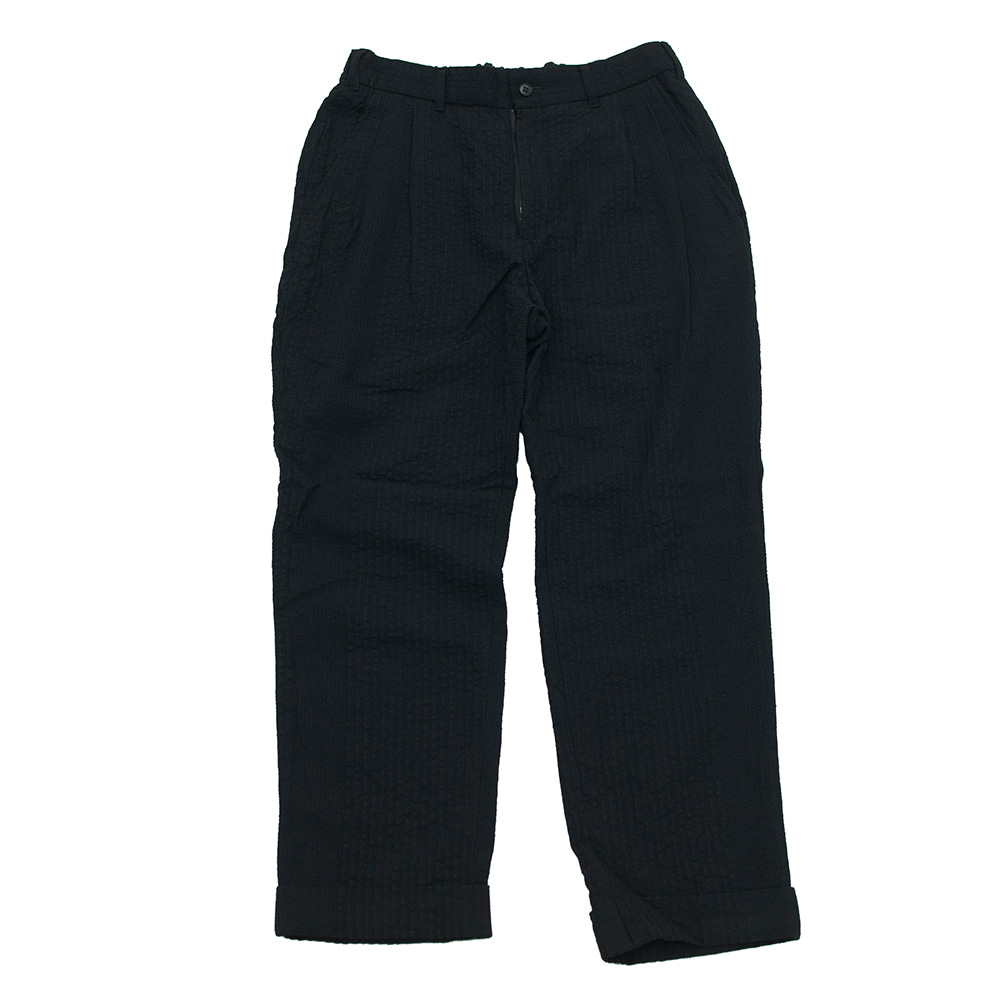 SAGE DE CRET Two tuck tapered pants (Black)