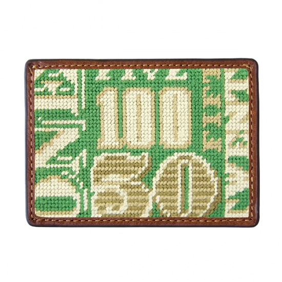 SMATHERS&BRANSON_Cash Money Needlepoint Card Wallet