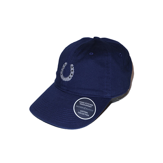 SMATHERS&BRANSON_Horseshoe Hat Needlepoint Hat (Navy)