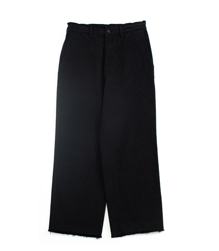 브라운야드 Cut off pants_Black