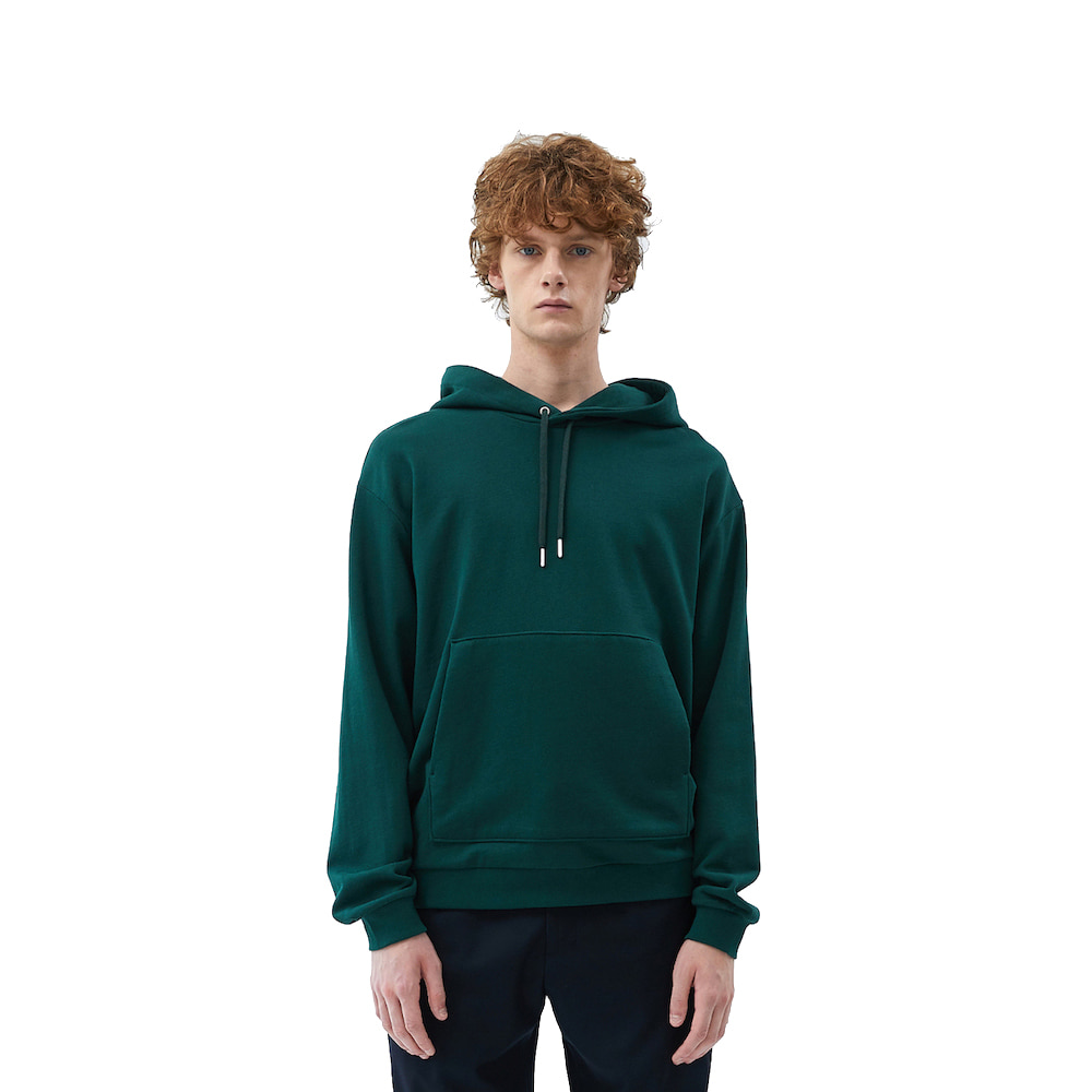 에이카화이트 FINEST COTTON HOODIE_Dark green