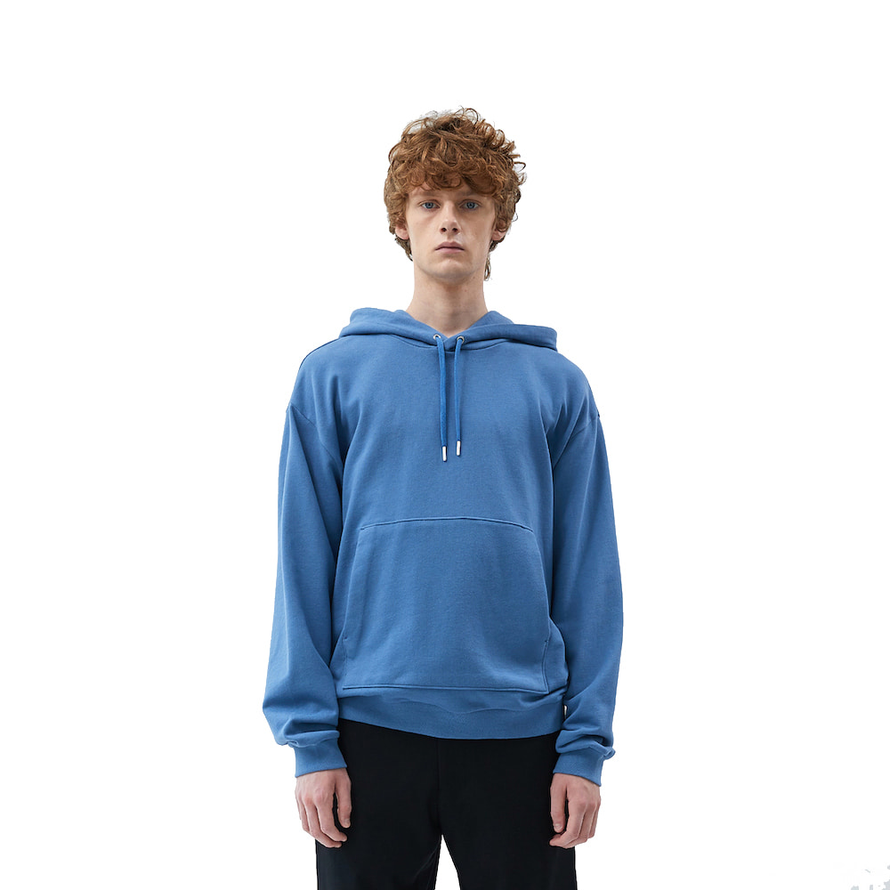 에이카화이트 FINEST COTTON HOODIE (Blue stone)