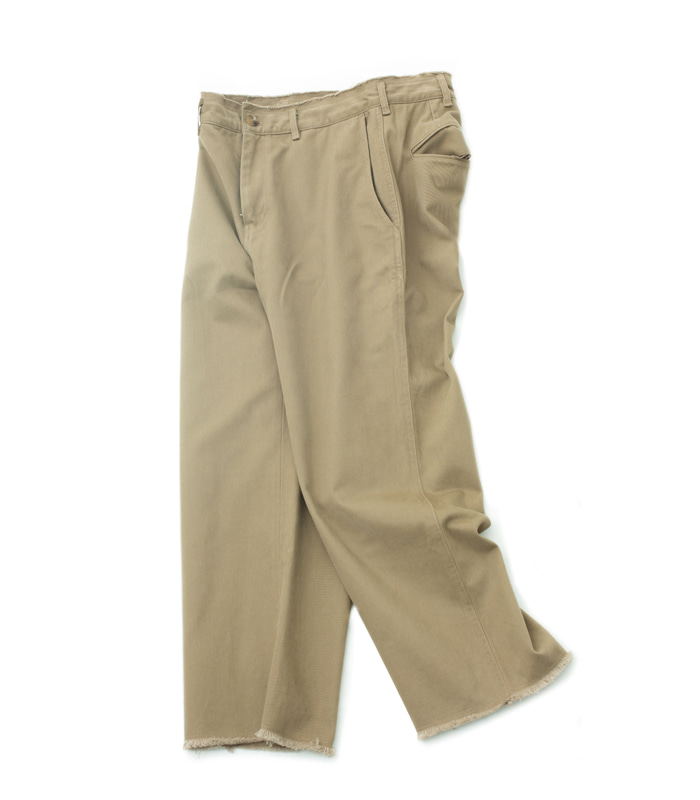 브라운야드 Cut off pants (Beige)
