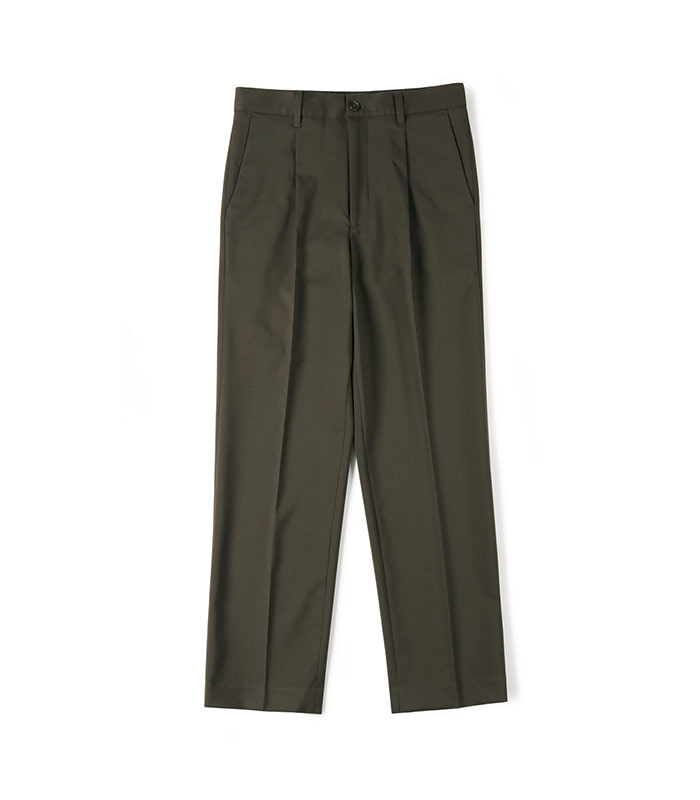 셔터 CINCH-BACK LOOSE FIT PANTS (Dark brown)