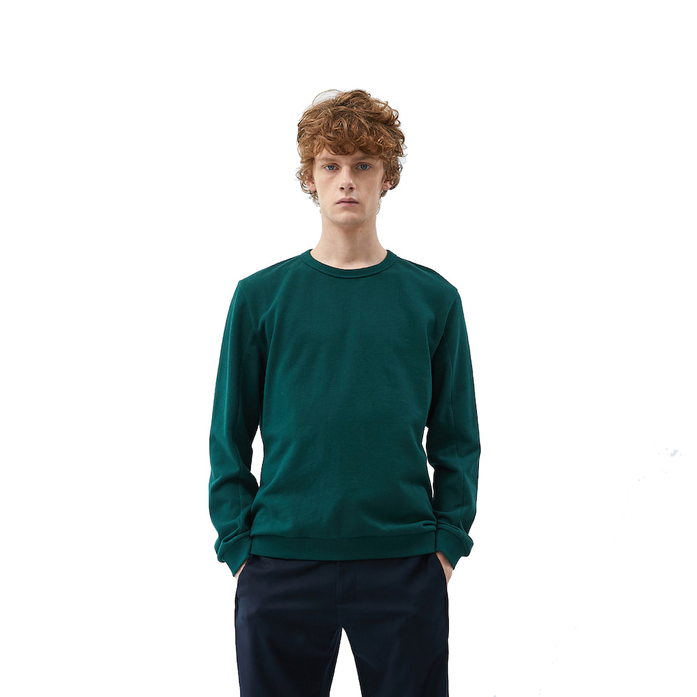 에이카화이트 FINEST COTTON SWEATSHIRT_Dark green