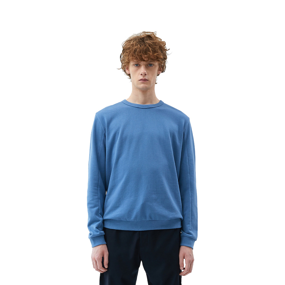 에이카화이트 FINEST COTTON SWEATSHIRT (Blue stone)