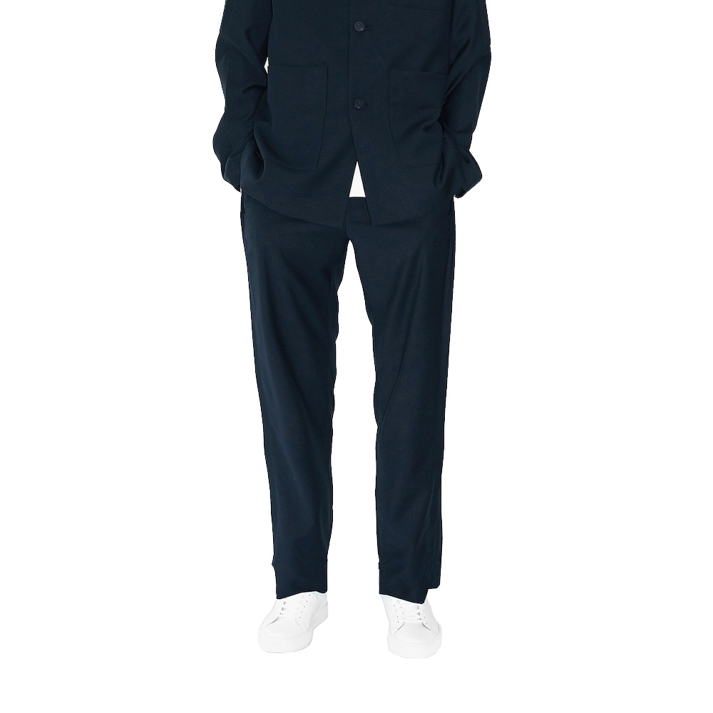 에이카화이트 OVERTURE WIDE TROUSERS (Deep navy)