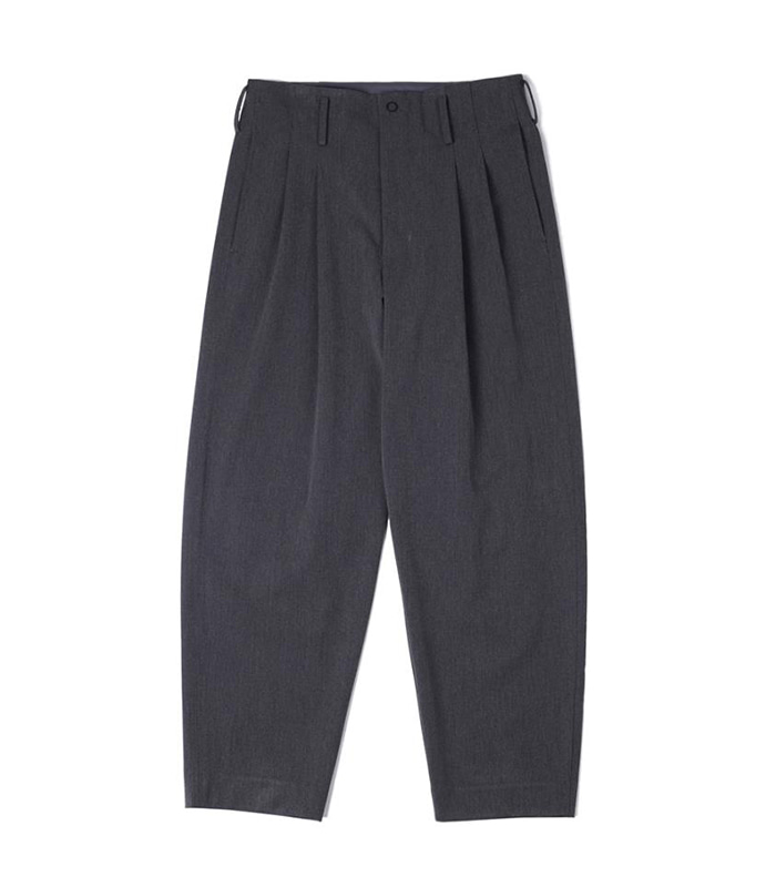 오파츠 Two pleats carrot-fit pants_Gray