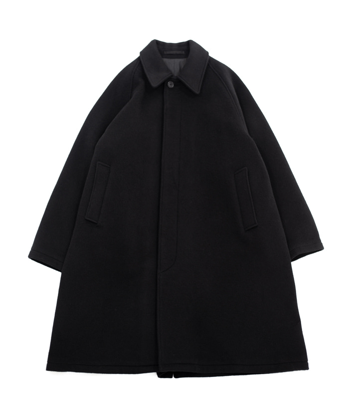 브라운야드 Balmacaan Coat_Black