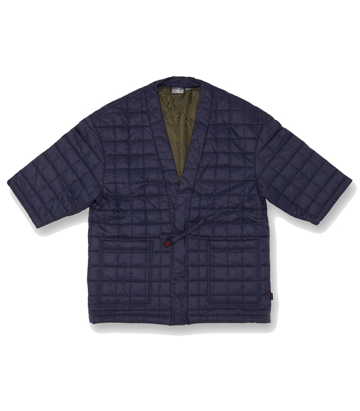 그라미치 QUILTING ROBE JACKET (Navy)