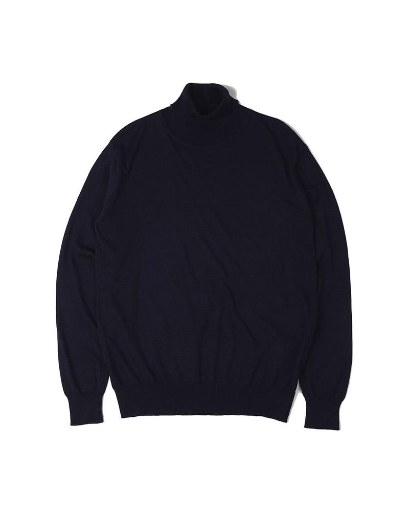 오파츠 Soft roll neck Sweater (Navy)