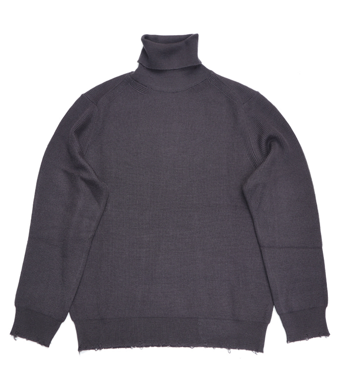 가쿠로 Turtleneck sweater_Eggplant