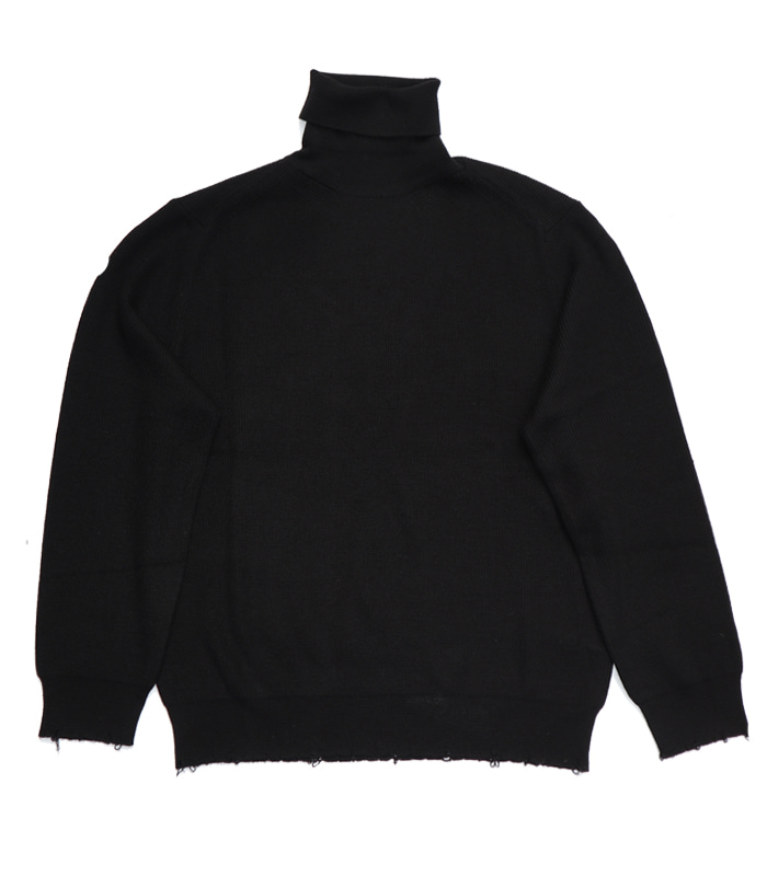 가쿠로 Turtleneck sweater_Black