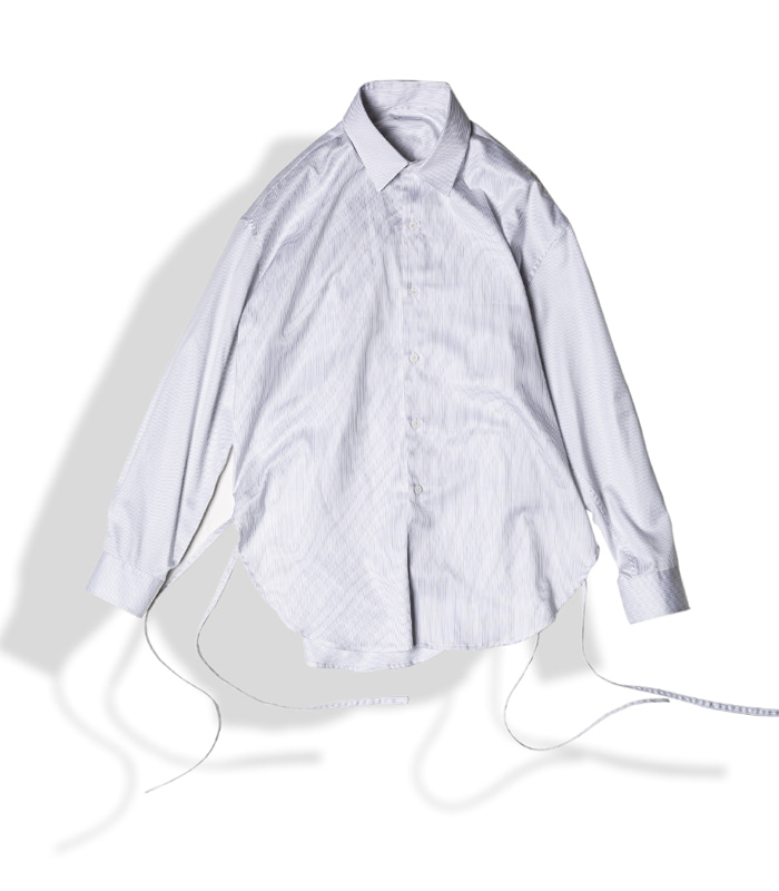 아티튜드 STRING GLOSSY COTTON SHIRTS (STRIPE)