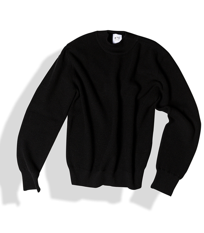 아티튜드 SUE MOCK NECK KNIT (Black)