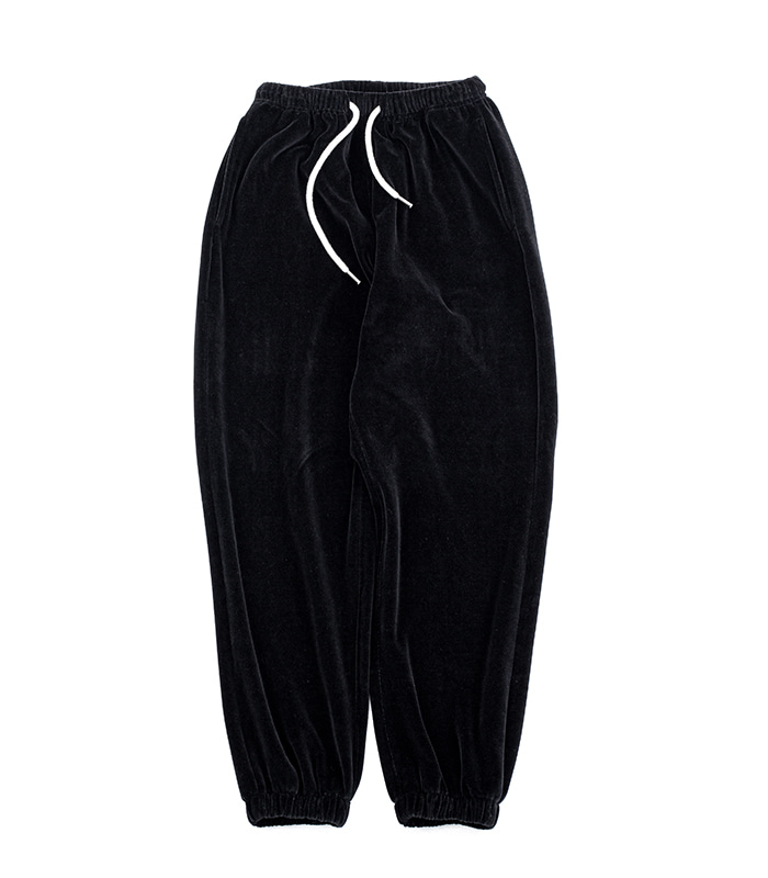 브라운야드 Velour Pants (Black)