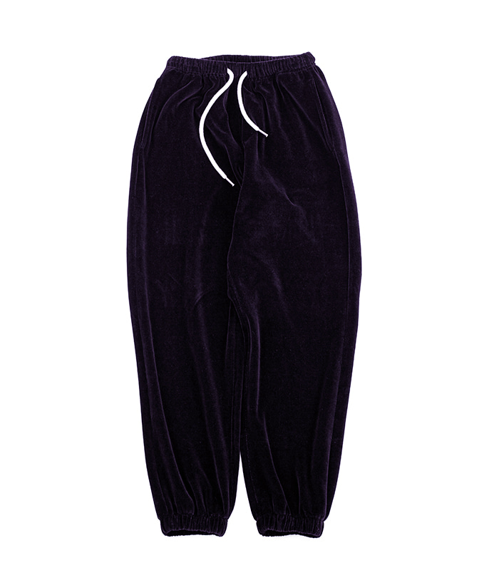 브라운야드 Velour Pants (Dark Purple)