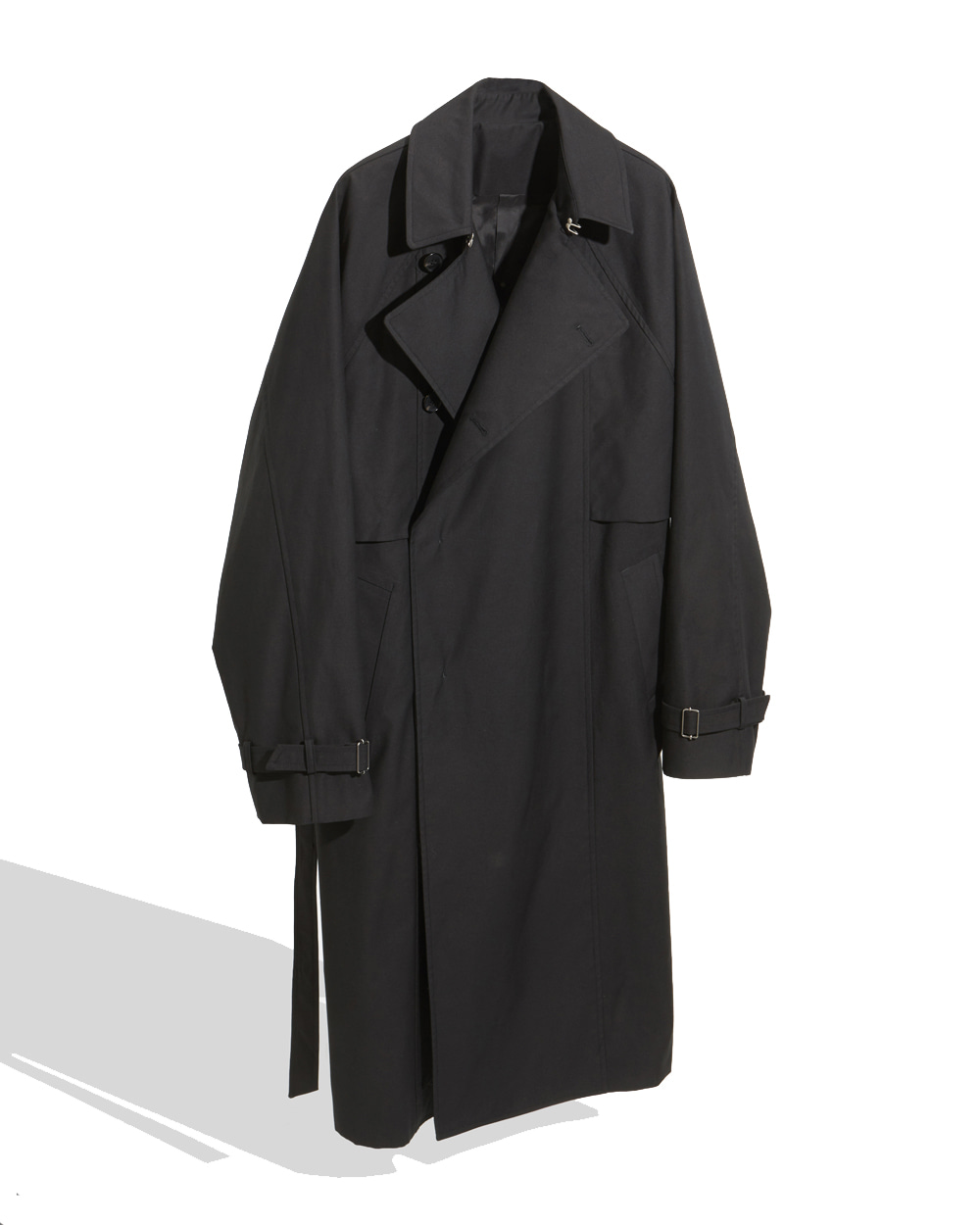 유스 Belted Trench Coat (Black)