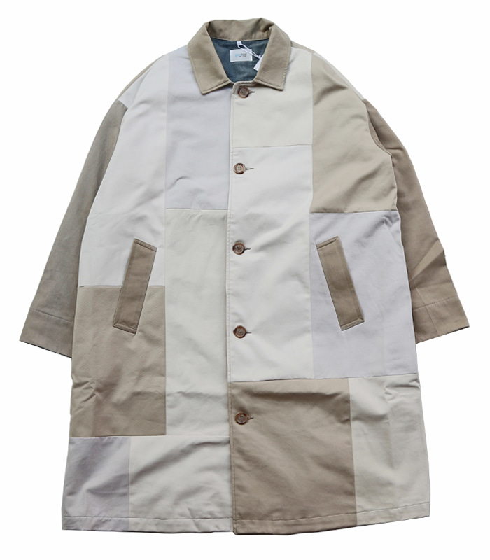 YOUSED Remake Wide Balmacaan Coat (Beige)
