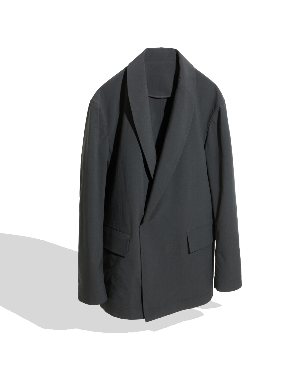 유스 Shawl Collar Jacket (Black)