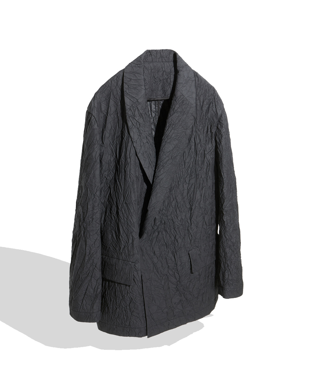 유스 Shawl Collar Jacket (Black crease)