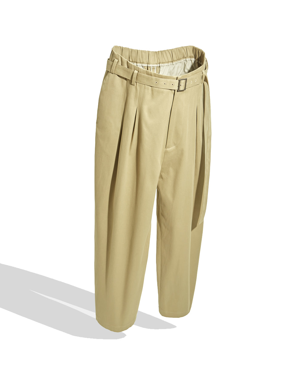 유스 Belted Loosed Pants (Beige)