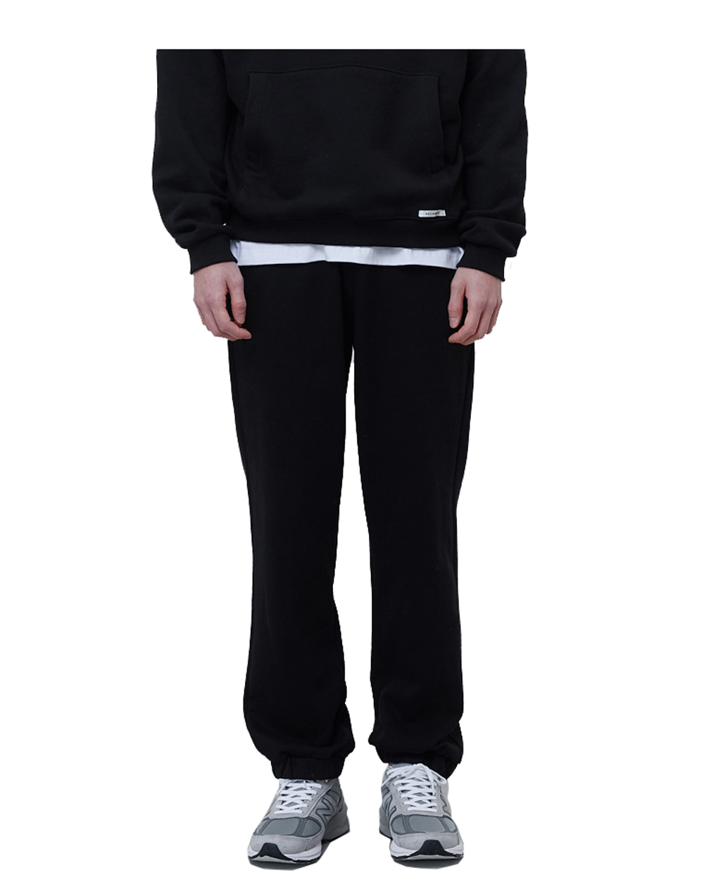 에이카화이트 FINEST COTTON SWEATPANTS (Black)