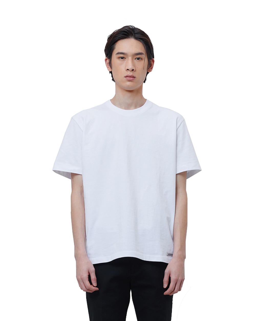 에이카화이트 FINEST COTTON HALF SLEEVE TEE (White)