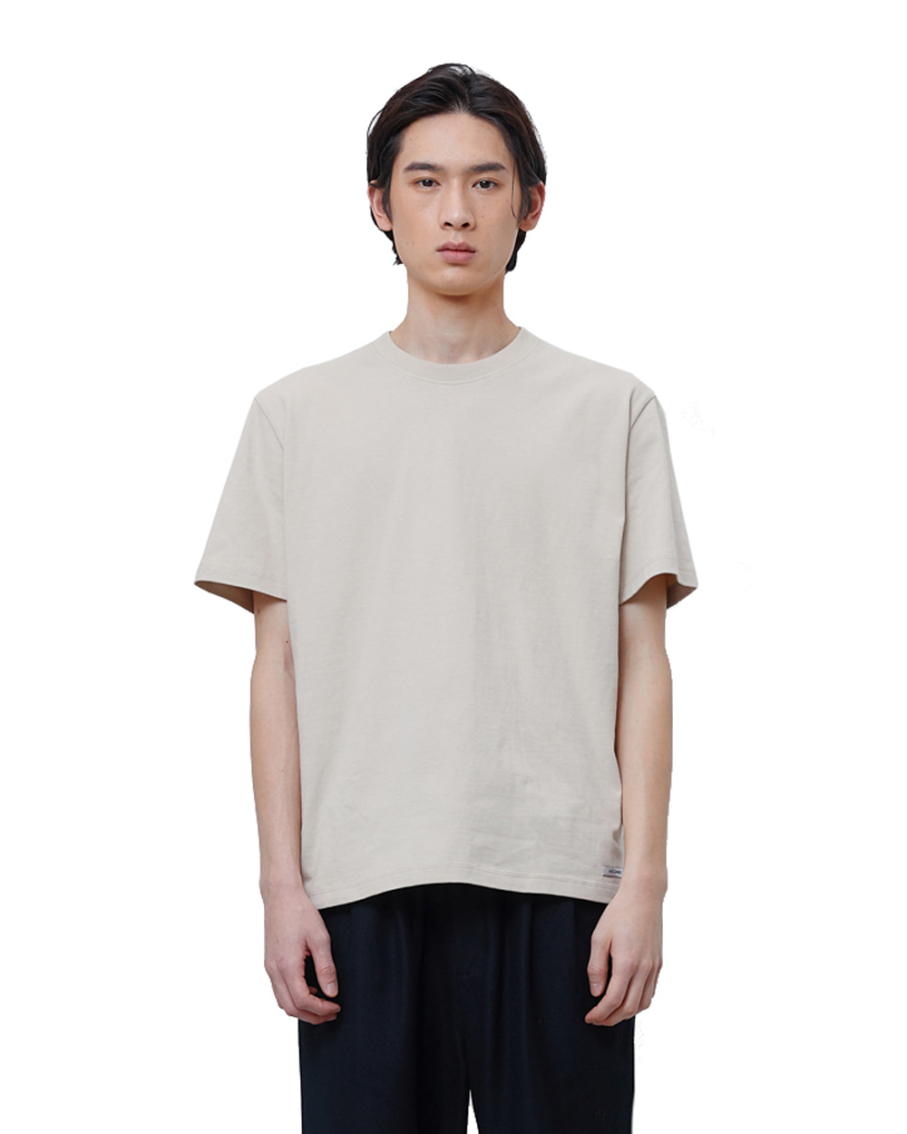 에이카화이트 FINEST COTTON HALF SLEEVE TEE (Beige)