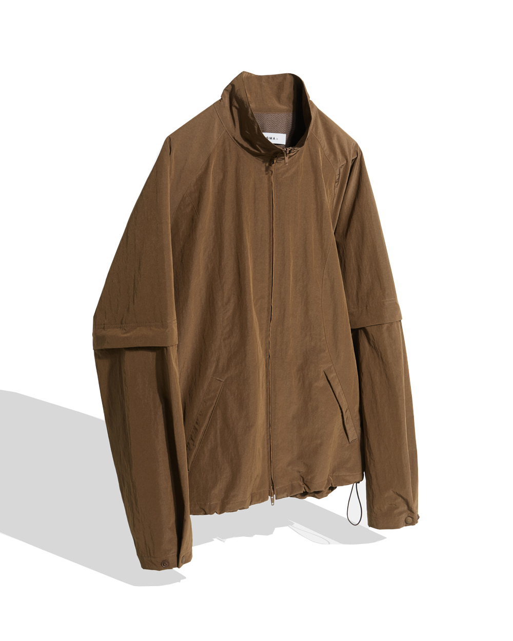 이니그마 Detachable Zip-up Jacket (Brown)