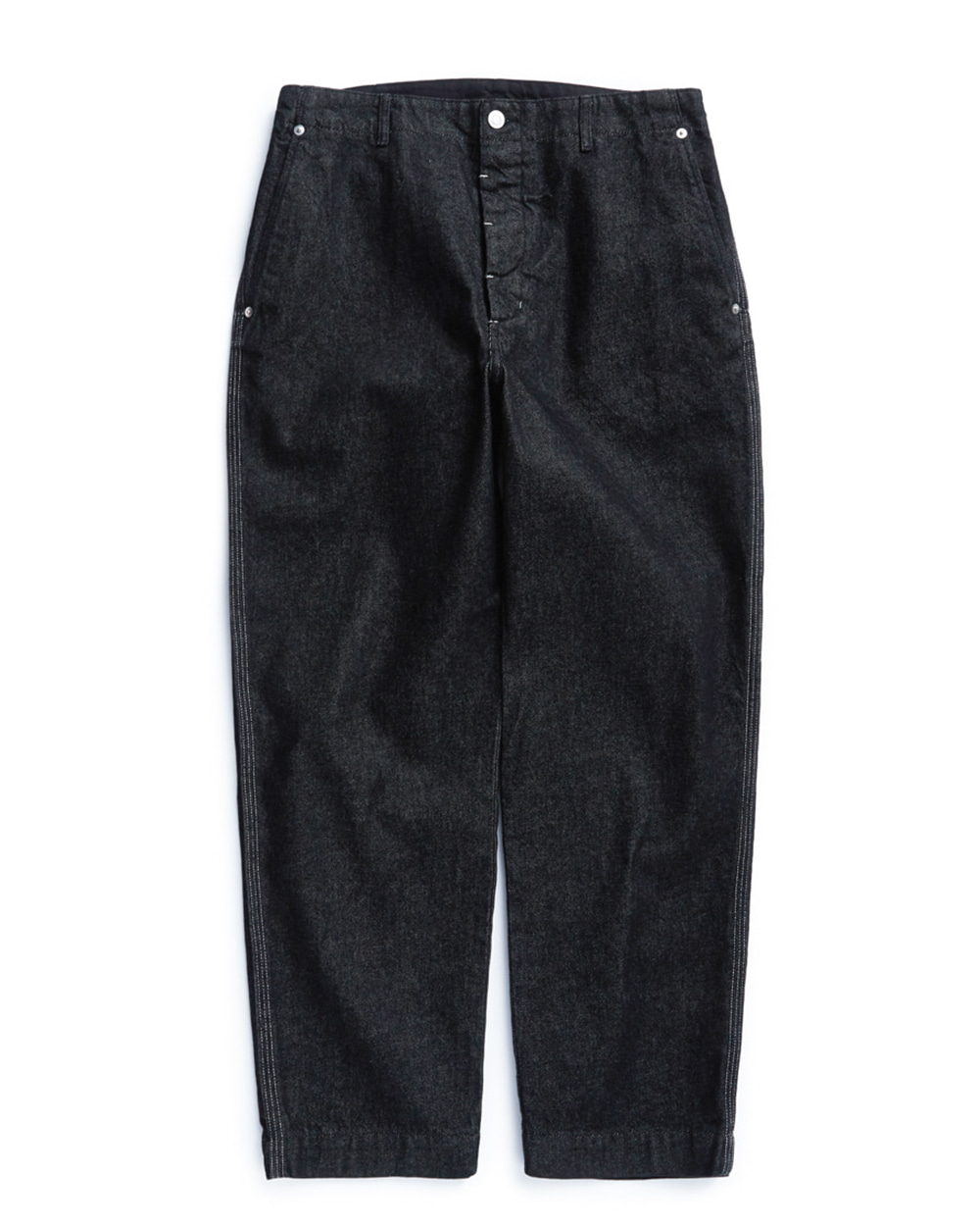 언어펙티드 CONTRAST STITCH PANTS (Black)