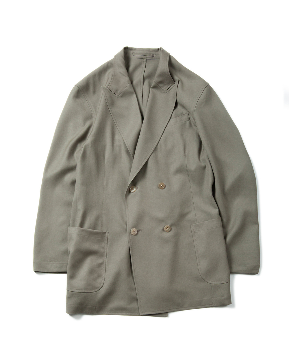 브라운야드 Utility Double Breasted Jacket (Olive)