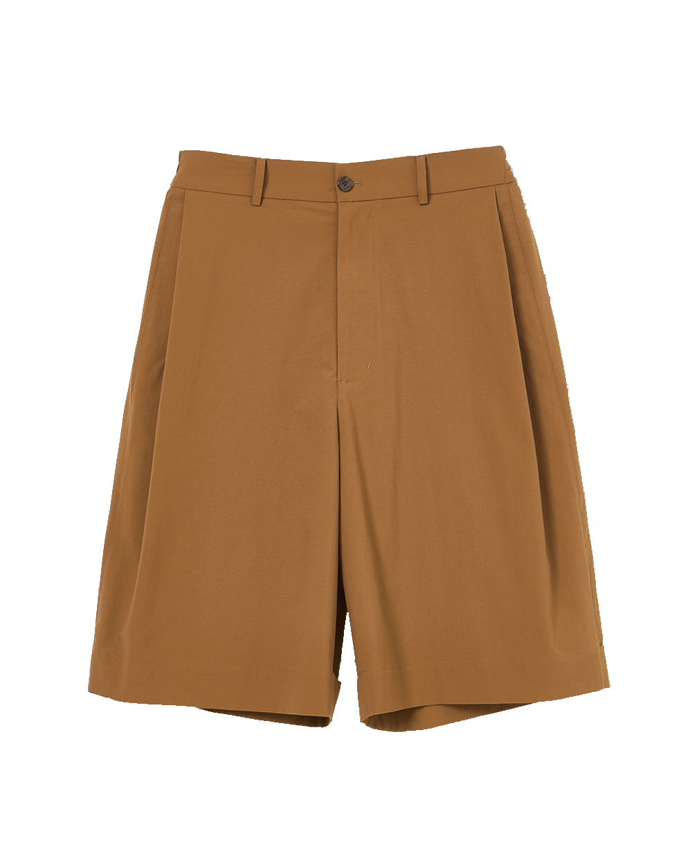 유스 Wide Half Pants (Brown)