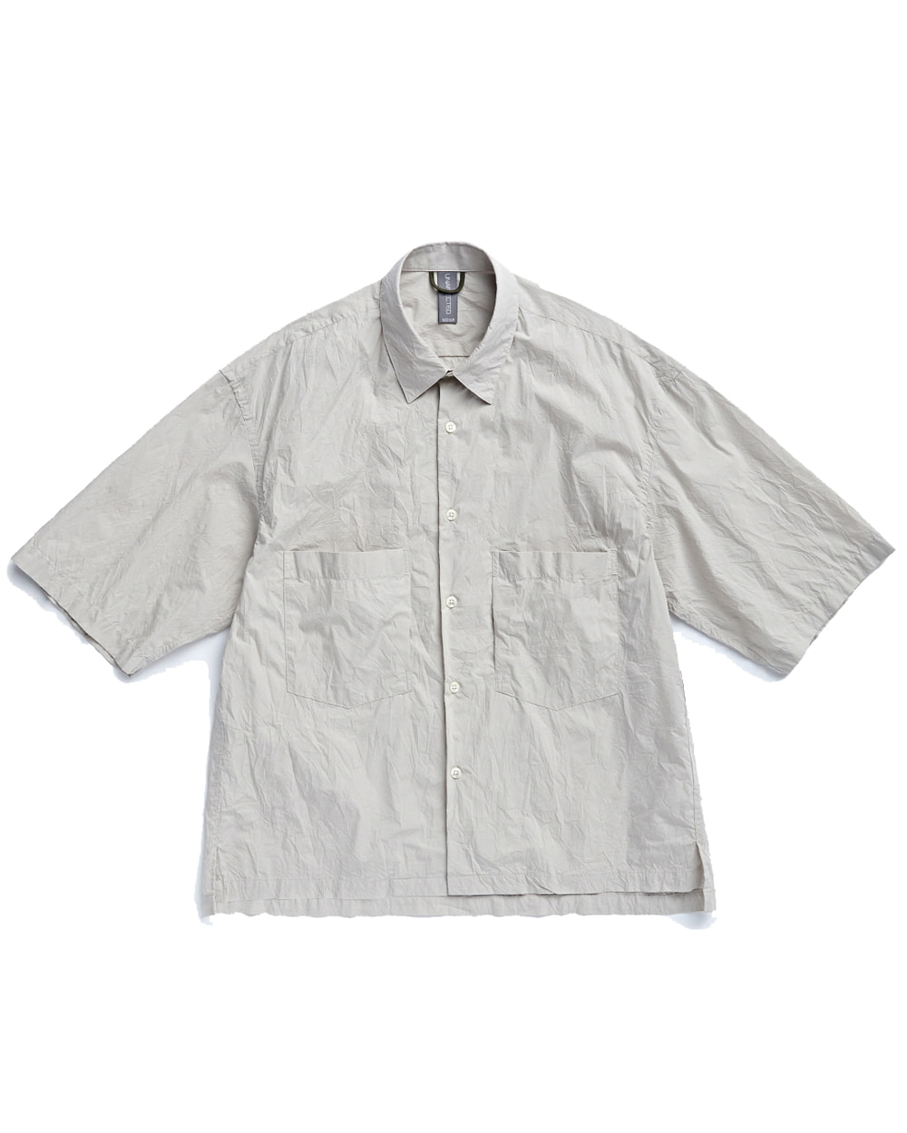 언어펙티드 OVERSIZED HALF SHIRT (Light Grey)