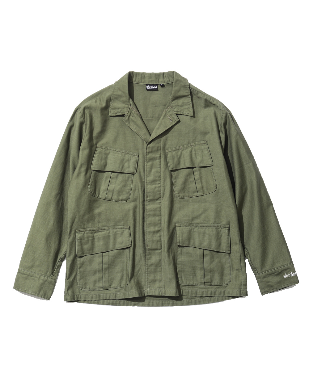 와일드띵스 BACKSATIN FIELD JACKET (Olive)