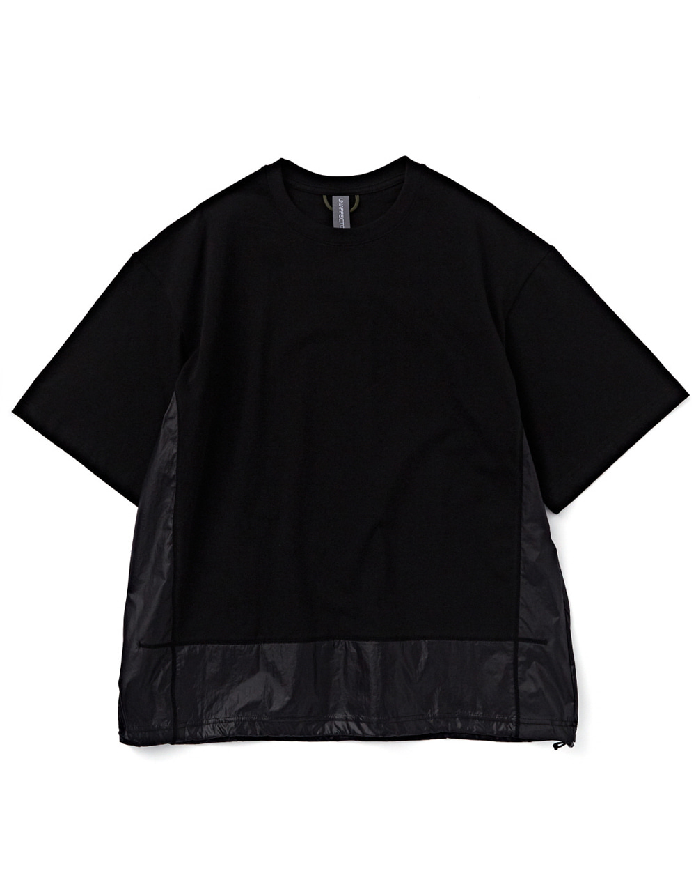 언어펙티드 CONTRAST PANEL T-SHIRT (Black)