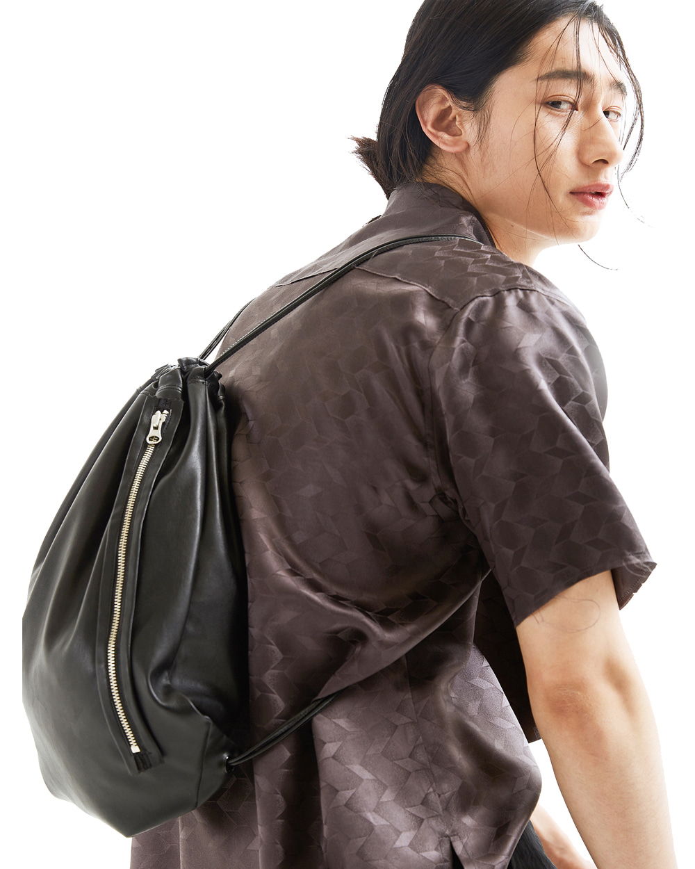 ATE STUDIOS ARTIFICIAL LEATHER EASY BAG (Black)