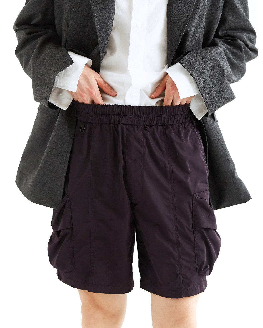 ATE STUDIOS VOLUME CARGO HALF PANTS (Purple)