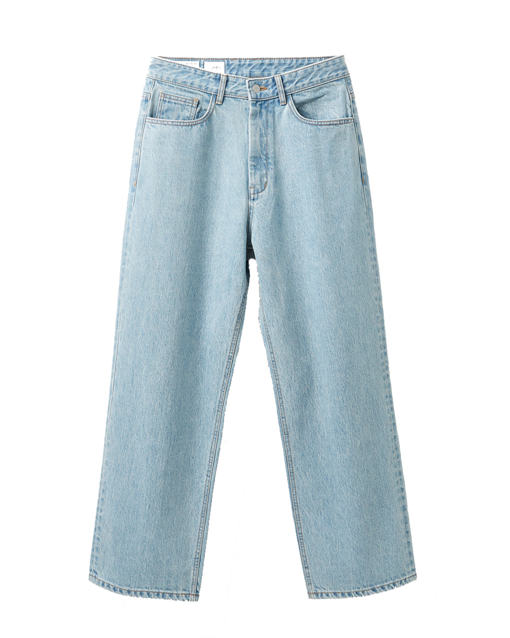 유스 Wide Denim Pants (Light blue)