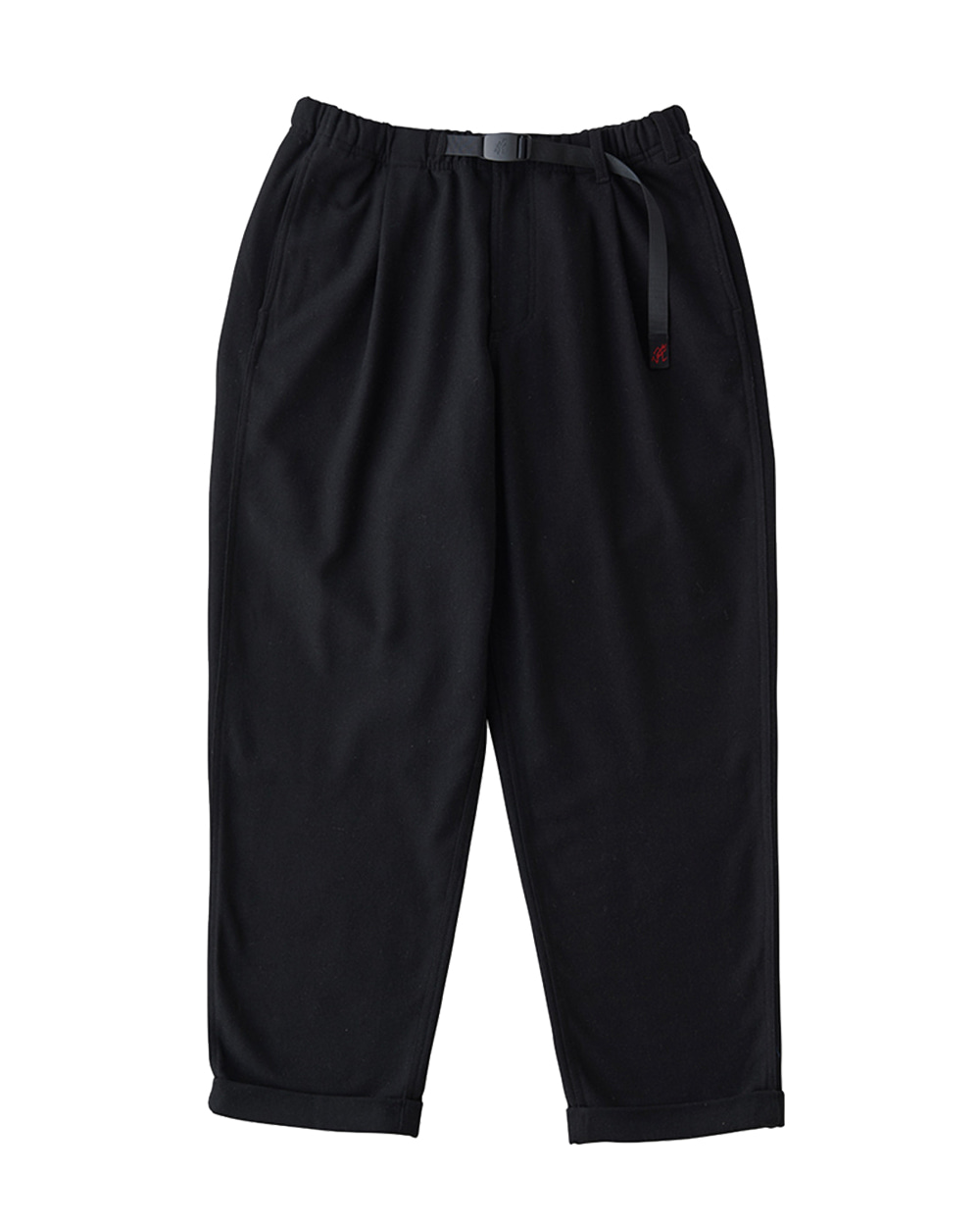 그라미치 WOOL BLEND TUCK TAPERED PANTS (Black)