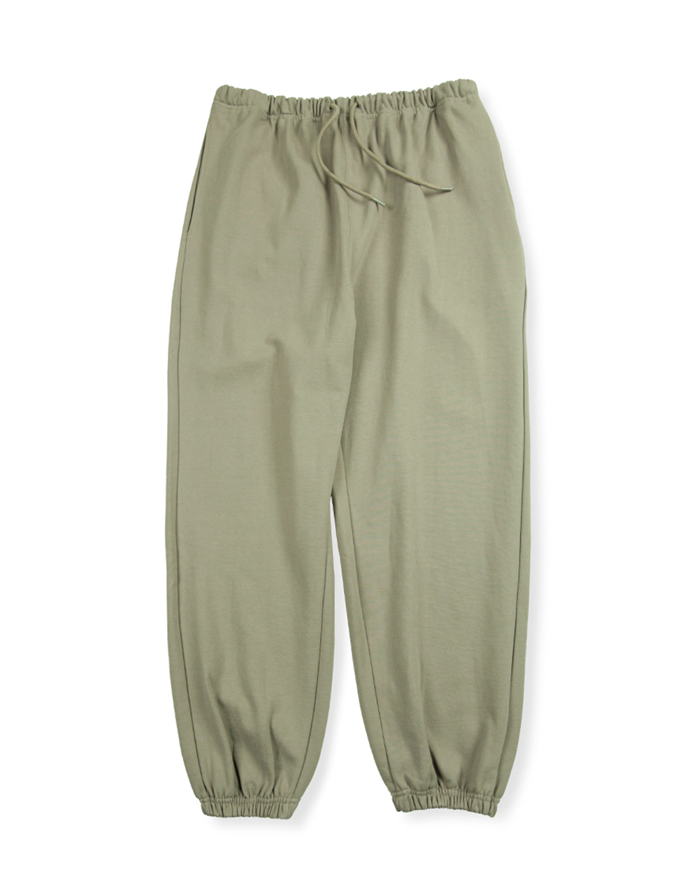 브라운야드 HARD TWIST SWEAT PANTS (Light olive)