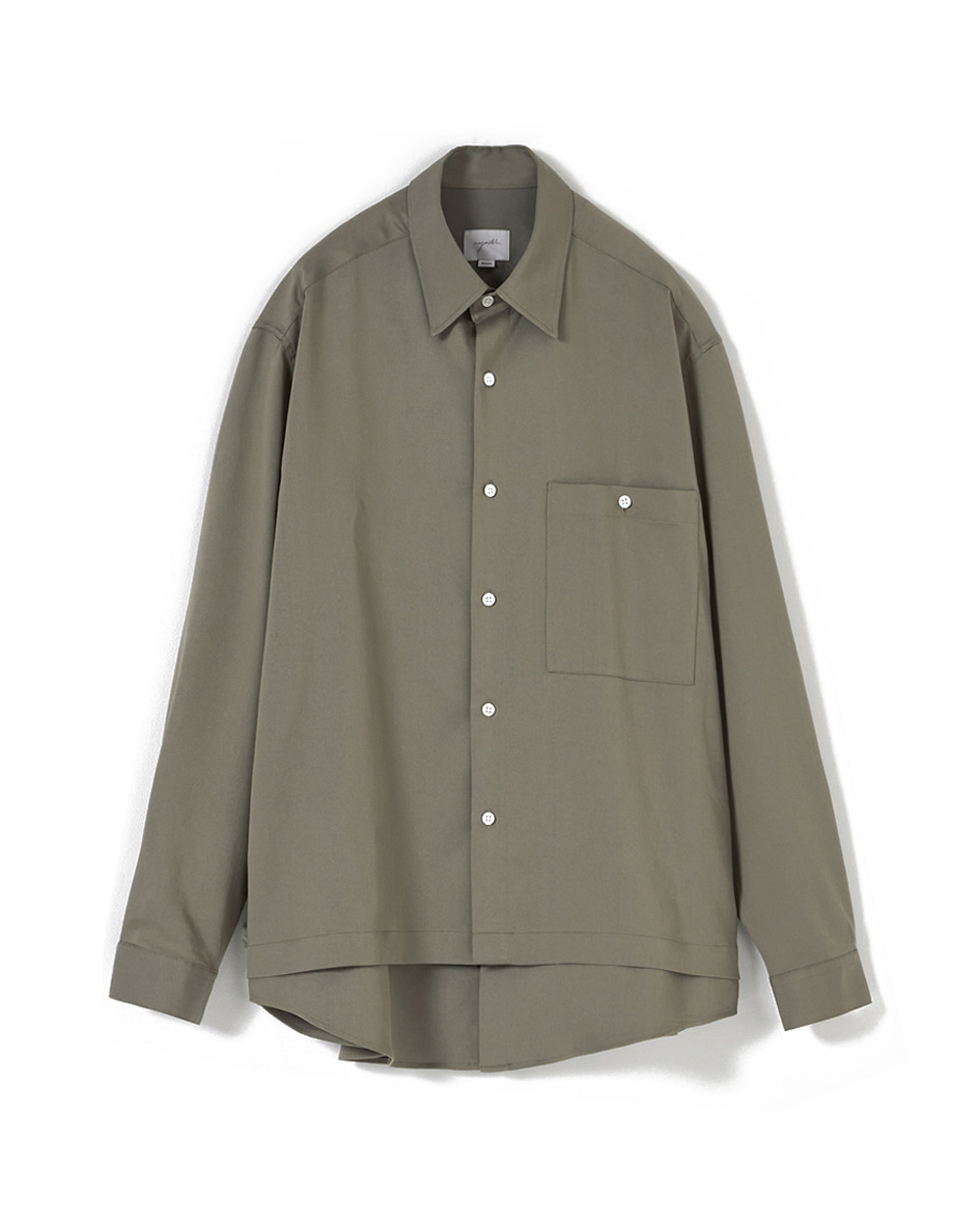 유스 Layered Shirt (Light khaki)