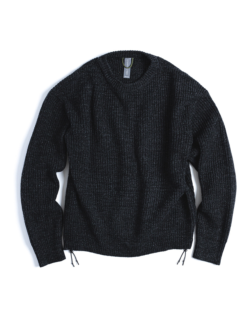 언어펙티드 OVERSIZED CREWNECK KNIT (Black Melange)