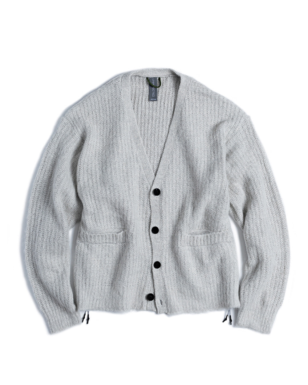 언어펙티드 OVERSIZED FLUFFY CARDIGAN (Light Grey)