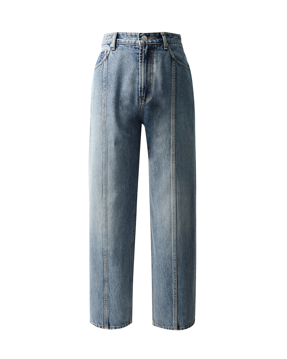 ATE STUDIOS LOOSE TAPERED DENIM (Mid wash)