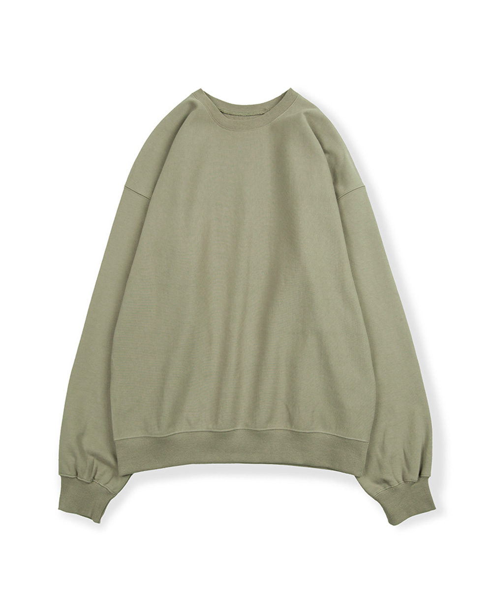 브라운야드 HARD TWIST SWEAT SHIRT (Light olive)