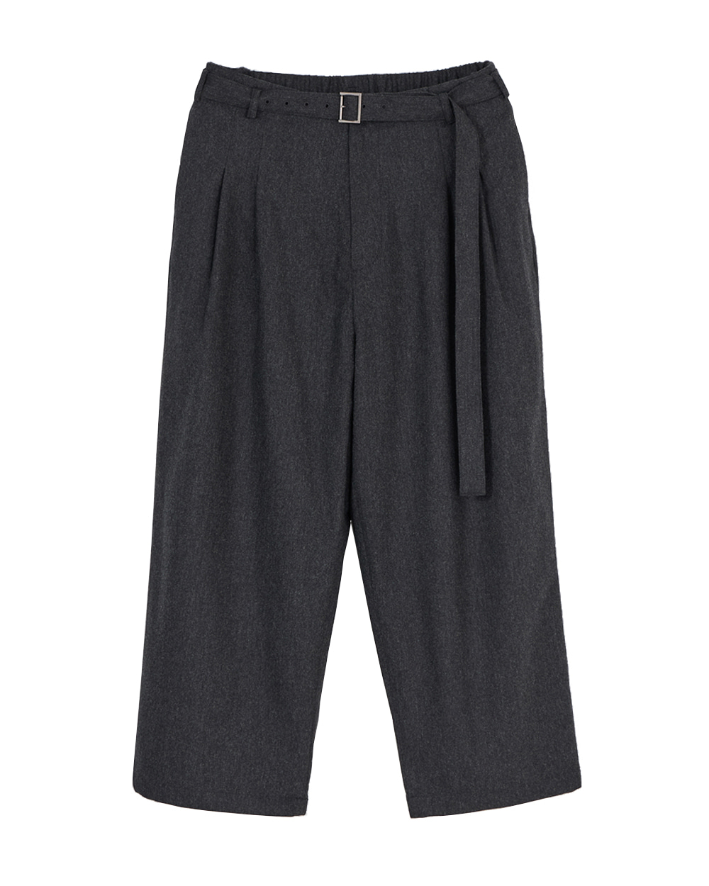 유스 Belted Loosed Pants (Charcoal Grey)