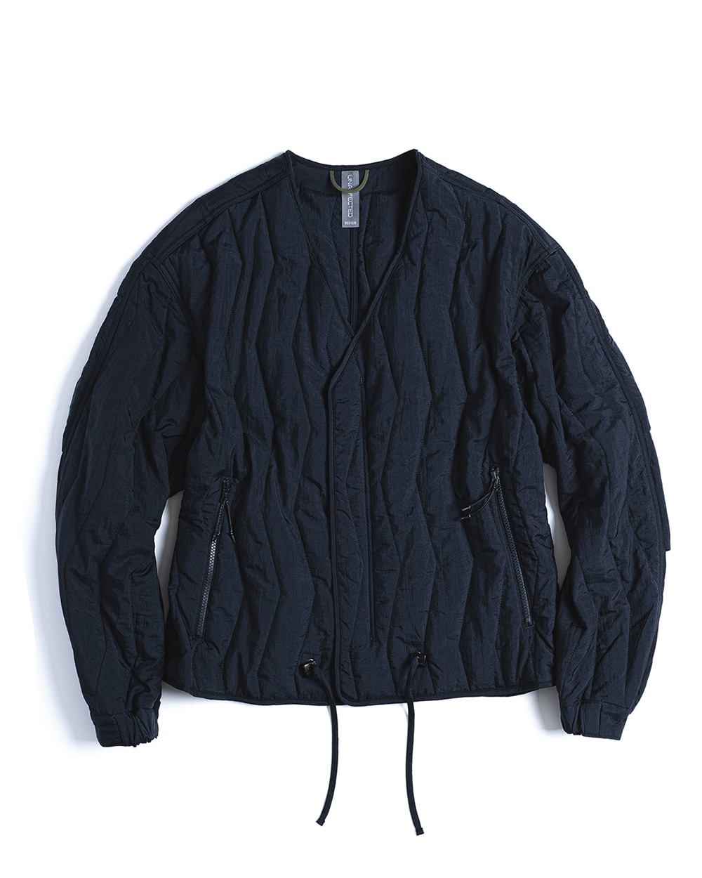 언어펙티드 QUILTED CARDIGAN (Navy)